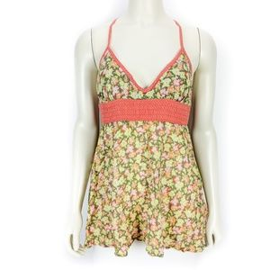 Free People Sleeveless Floral Tank Top Blouse 2